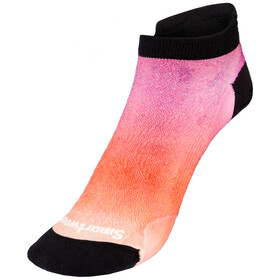 Smartwool PhD Run Ultra Light Micro Calze Ombre Print Donna, bianco/rosso